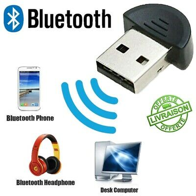 Mini USB Bluetooth 2.0 Adaptateur Clé Dongle EDR PC Ordinateur Sans Fil Windows