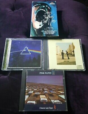 Pink Floyd Collection 3 CD's + 1 VHS Tape Tested Good - Lot of 4 items. (C9)