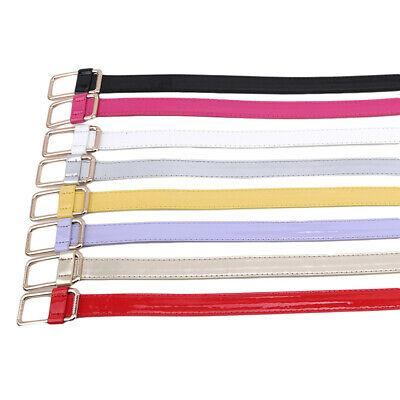 Woman Candy Color Buckle Thin Casual Leather Belt Waistband Apparel Accessory G