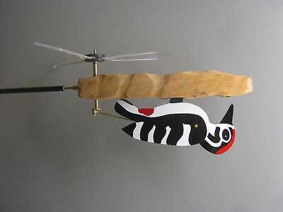 woodpecker whirligig kinetic art