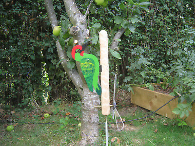 Green woodpecker whirly whirligig windvane