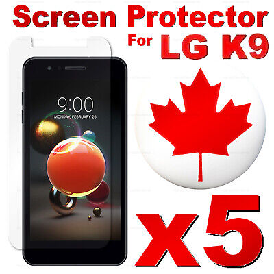 Premium Tempered Glass Screen Protector For LG K9 & K8 2018 (5 PACK)