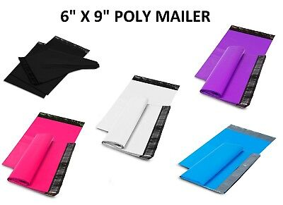 "6"" x 9"" SHIPPING ENVELOPES POLY MAILERS SELF SEALING MAILING BAGS PLASTIC COLOUR"