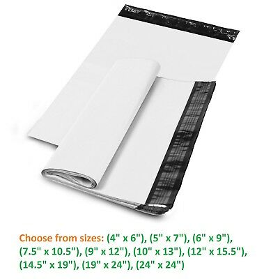 5-10,000 Shipping Envelopes Poly Mailers Plastic Mailing Bags White Self Sealing