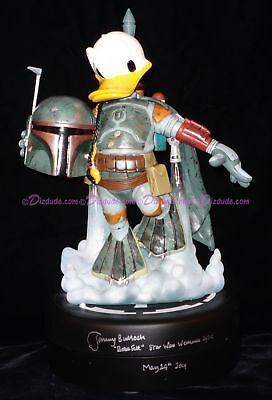 Jeremy BULLOCH SIGNED STAR WARS WEEKENDS DONALD DUCK as BOBA FETT med BIG FIG LE