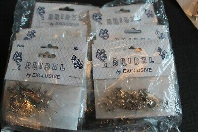 Lot 12x 30mm CORSAGE Safety Pins Buttonhole Lapel Wedding Bride Groom Floristry