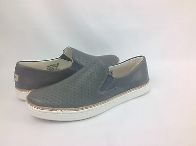 0d6a6a1c17380 UGG AUSTRALIA Keile Perf Leather Slip On Loafer/sneaker Womens Grey 5.5 Us  Nib