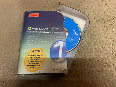 Windows Live One Care Microsoft Antivirus CD ROM XP/Vista 2.0 With PRODUCT KEY