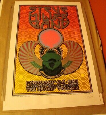 Steve Miller Band Poster~Chuck Sperry~Austin, Tx~2/26/2011~Moody Theatre~S&N/100