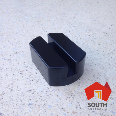 80mm Universal Side Lift Trolley Jack Pad, Polyurethane, Pinch Weld, Adapter