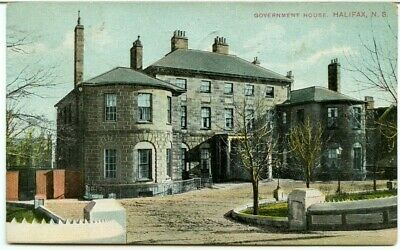 Government House Halifax 1908 post card Canada