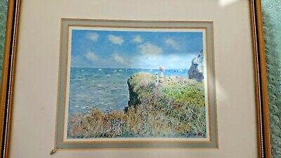 Small Picture Frame Two Ladys On Cliff Looking Over The Sea Framed