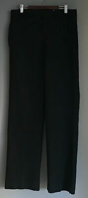 """VINTAGE Mens Black Trousers With  Buttons at Waist for Suspenders Size 81cm/30"""""""