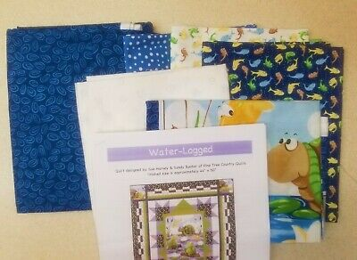 Paul & Sheldon Water-Logged Quilt Kit by Susybee + Backing Fabric