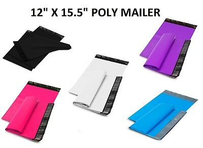 """12"""" x 15.5"""" SHIPPING ENVELOPES POLY MAILERS SEALING MAILING BAGS PLASTIC COLOUR"""