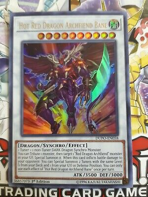 Yugioh! Hot Red Dragon Archfiend Bane - DUPO-EN058 - Ultra Rare - 1st Edition NM