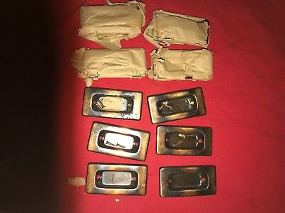 Vintgage Copper Flash Window Sash Lift or Pull Handles NOS