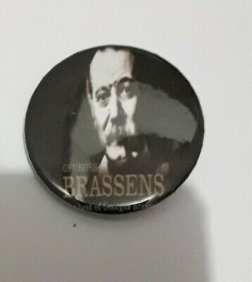 Badge 32mm Brassens