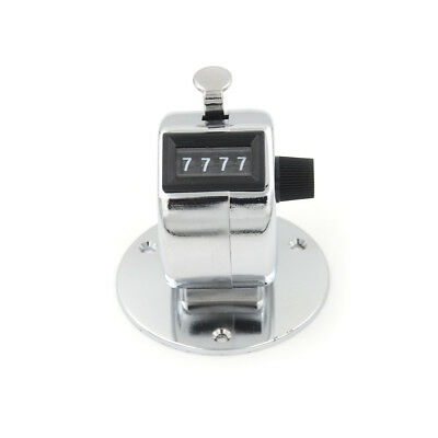 4 Digit Manual Hand Tally Mechanical Palm Click Counter Round Base 3c
