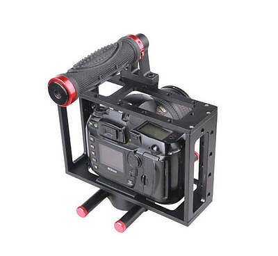 DSLR Camera CAGE RIG For Canon EOS 5D7D 60D 700D Block Plate 15mm Rod Support