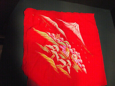 Vintage/Antique - Lot of 5 hand painted silk scarves - Maruichi - made in Japan