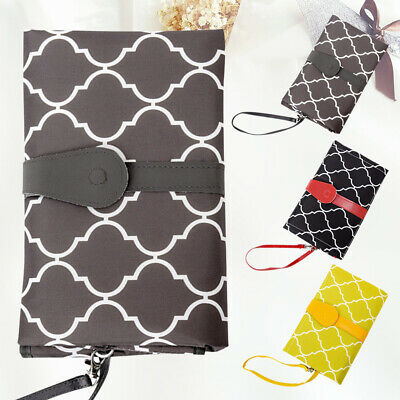Baby Nappy Bag Diaper Changing Pad Clutch Mat Travel Camp Foldable Change Pad