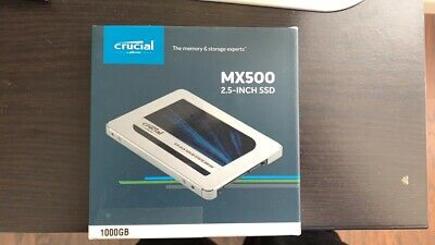 "BRAND NEW - Crucial MX500 1TB SATA 2.5"" 7mm (with 9.5mm adapter) Internal SSD"