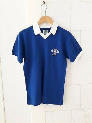 Score Draw Official Retro Chelsea FC adult home football shirt. Size S Small