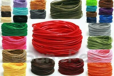 1mm / 2mm Korean Wax Polyester 'Snakeskin' Whip Cord Rope 5-50m Jewelry Crafts