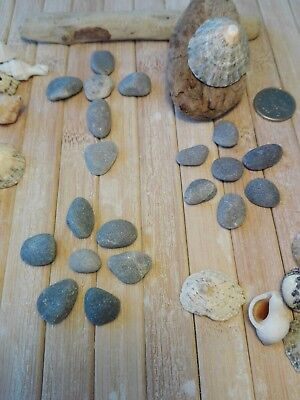 20 very small flat pebbles stones 5-10mm for pebble art craft pictures jewellery