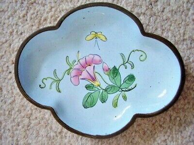 Chinese cloisonne oval plate-dish,Hand Painted