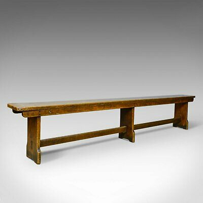 Antique Tavern Bench, Georgian, English, Oak, Six Seater, Form, C19th, c.1810