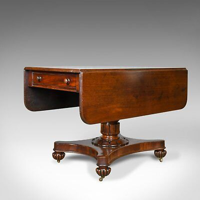 Antique Pembroke Table, English, William IV, Mahogany, Sofa, Circa 1835