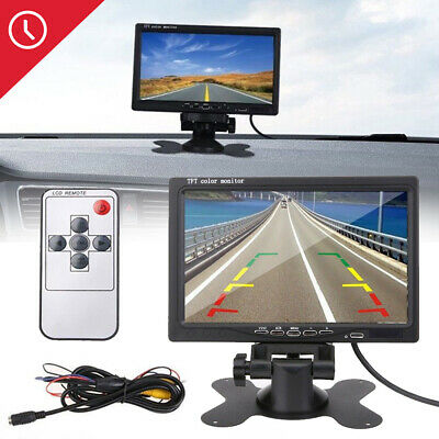 For CCTV 7'' inch TFT LCD Color Screen Car Rear View Camera DVD VCR Monitor UK