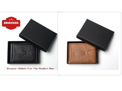 Genuine Leather Mens Purse Bifold Credit Card Wallet RFID Blocking GIFT BOX NEW