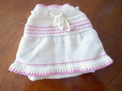 Diaper Soaker Cover with Skirt 100% Wool Size Small (hand maid from Latvia)