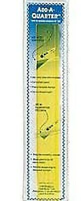 """ADD A QUARTER 12"""" x 1.1/2"""" RULER - YELLOW - with 1/4 inch lip - PATCHWORK QUILT"""