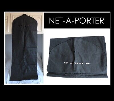 Netaporter Black Extra Long Zipped Coat Dress Suit Cover Protector case
