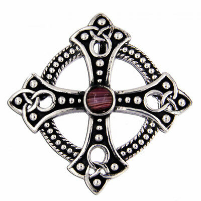 Miracle Scottish Trefoil Ring Brooch in antique Pewter  50%SALE was £16.00