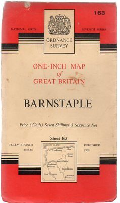 Ordnance Survey  One-Inch Map of Great Britain -  Barnstaple - Sheet 163,