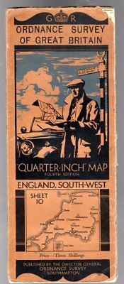 Ordnance Survey Quarter-Inch Map of Great Britain Sheet 10 England South-West, A