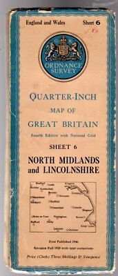 Ordnance Survey Quarter-Inch Map of Great Britain Sheet 6 North Midlands and Lin