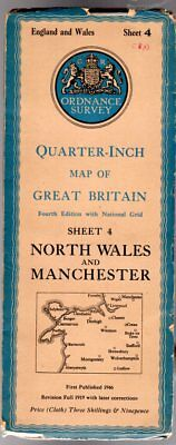 Ordnance Survey Quarter-Inch Map of Great Britain Sheet 4 North Wales & Manchest