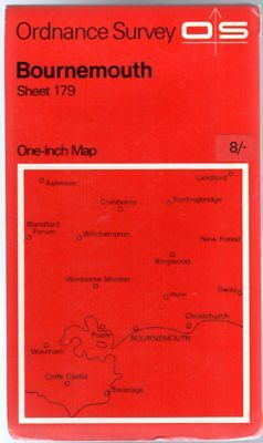 Ordnance Survey  One-Inch Map of Great Britain - Sheet 179 Bournemouth, Anon