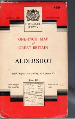Ordnance Survey  One-Inch Map of Great Britain Sheet 169 Aldershot,