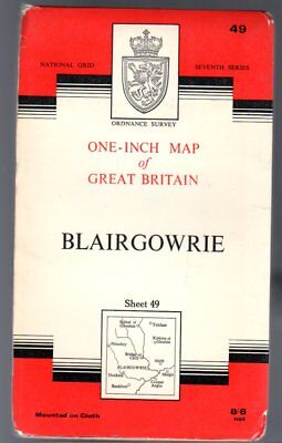 Ordnance Survey  One-Inch Map of Great Britain Sheet 49 Blairgowrie,