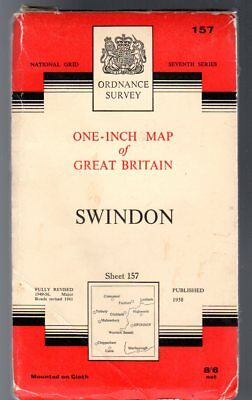 Ordnance Survey  One-Inch Map of Great Britain Sheet 157 Swindon,