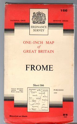 Ordnance Survey  One-Inch Map of Great Britain Sheet 166 Frome,