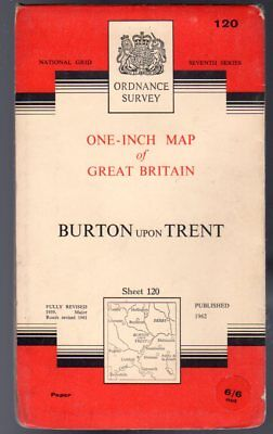 Ordnance Survey  One-Inch Map of Great Britain Sheet  120 Burton Upon Trent,