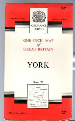 Ordnance Survey  One-Inch Map of Great Britain Sheet 97 York,